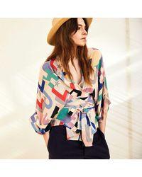 Tallulah & Hope Gloria Wrap Blouse Hope - Multicolor