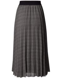 Luisa Cerano And Off White Pleated Skirt With Elasticated Waist 528254/3185 - Black