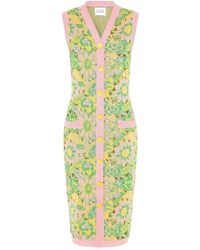 Hayley Menzies Samui Blooms Jacquard Midi Vest Dress - Pink