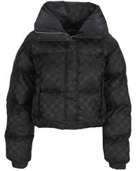 MISBHV Monogram Puffer Jacket - Black