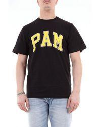 Pam Men's 359gnero Black Cotton T-shirt