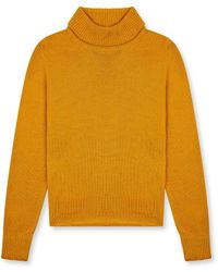 Burrows and Hare Burrows & Hare 's Roll Neck Jumper - Mustard - Yellow