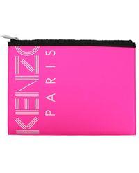 KENZO A4 Logo Clutch - Pink