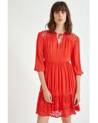 Suncoo Cerys Dress Red