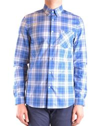 Fred Perry - Checked Shirt In Blue - Lyst