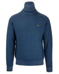 Etro - Men's 1m50796710201 Blue Wool Sweater - Lyst