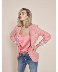 Mos Mosh Ditte Silk Singlet Sugar Coral - Pink