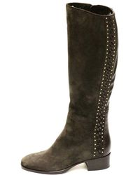 Le Pepe Women's A680467 Lace Up Knee Brown Boot