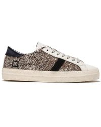 Date Hill Low Glitter Taupe Leather Sneakers - Multicolour