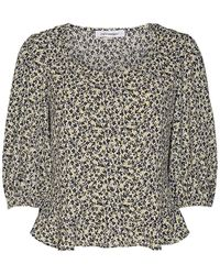 co'couture Cocouture Shadow Yellow Flower Blouse - Multicolour