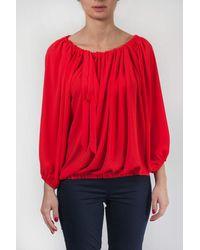 Sfizio Curled Shirt - Red