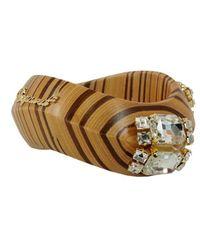 DSquared² Wooden Bracelet - Brown