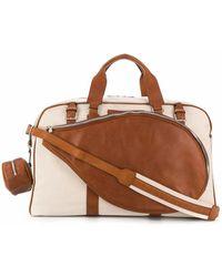 Brunello Cucinelli Men's Mbnhu386cs894 Beige Polyester Travel Bag - Brown