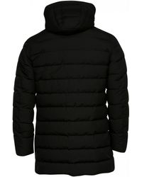 Herno Laminar Long Quilted Coat (black)