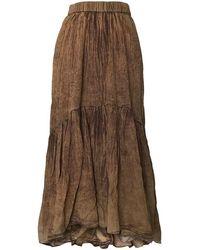 Mes Demoiselles Ss20 Palette Skirt - Nude - Brown