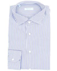 Giampaolo Viozzi Giampaolo Shirts General White And - Blue