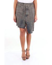 Rick Owens Drkshdw Skirts Knee-length Women Dark Jeans - Blue
