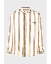 Henrik Vibskov Spyjama Shirt - Cream Stripe - Natural