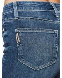PAIGE Paige Hoxton Fray Hem Jeans - Blue