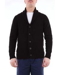 Drumohr Single-breasted Plain Wool Cardigan - Black