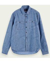 Scotch & Soda Cotton Chambray Shirt - Blue