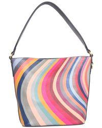 Paul Smith Bucket Bag With Swirl Print - Multicolour