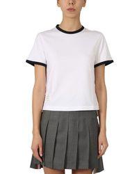 Thom Browne Ringer T-shirt - White