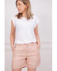 Hartford Saran Shorts In Flamingo - Pink