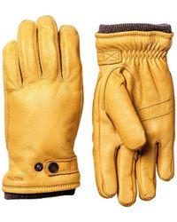 Hestra Utsjo Elk Leather Primaloft Gloves Natural Yellow