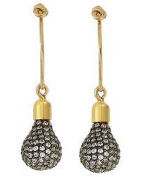 Ileana Makri Light Bulb Hoop Earrings - Metallic