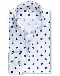 Stenströms Regular Fit Polka Dot Shirt 181 Navy Spot - Blue