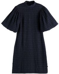 Scotch & Soda Scotch & Soda Voluminous Sleeved Mini Dress - Blue