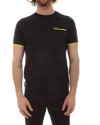 Sun68 Sun 68 Cotton T-shirt - Black