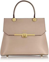 Le Parmentier Women's H118nude Beige Leather Handbag - Brown