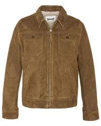 Schott Nyc Lcstanw19 Western Jacket , Title:rust - Brown