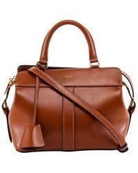 Celine Leather Handbag - Brown