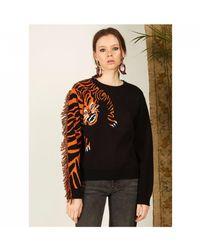 Hayley Menzies Tiger Head Jumper - Multicolour