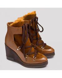 Miista - Alexandra Dip-dye Cognac Boots - Lyst
