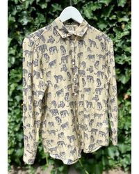Hartford Corazon Shirt - Big Cat Print - Multicolour