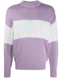 Gcds Men's Cc94m02115052 Purple Wool Jumper