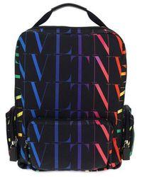 Valentino Garavani - Men's Vy2b0a33mvxn78 Black Other Materials Backpack - Lyst