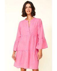 Aspiga Cristina Embroidered Organic Cotton Kaftan | Bubble - Pink