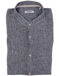 Seventy Men's Ca058070745blue Blue Cotton Shirt