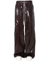Rick Owens Trousers In Burgundy - Metallic