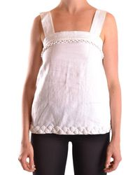 See By Chloé Linen Top - White