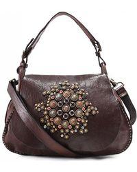 Campomaggi - Embellished Leather Shoulder Bag - Lyst