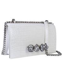 McQ Jewelled Spider Satchel Bag - White