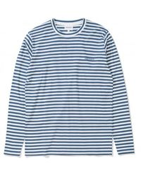 Norse Projects James Logo Stripe - Annodized Blue