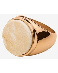 Dyrberg/Kern Castor Chunky Stone Ring Rose Gold And Cream - Pink