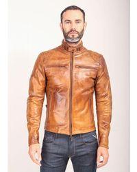 Matchless Osbourne Blouson Quilt Jacket Colour: Antique Cuero - Black